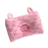 Rabbit Ear Shape Square Baby Pillow Baby Anti-head Pillow Newborn Multifunctional Pillow (Pink)