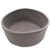 Round Hand-woven Basket Bedside Tabletop Snacks Debris Basket Storage Basket, Size: Middle (Gray)