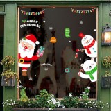 Christmas Wall Stickers Window Glass Festival Wall Stickers Santa Mural New Year Home Decoration (Santa Claus)