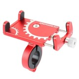 Battery Electric Vehicle Motorcycle Bicycle Riding Navigation Aluminum Alloy Mobile Phone Bracket (Red)
