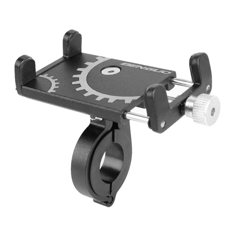 Battery Electric Vehicle Motorcycle Bicycle Riding Navigation Aluminum Alloy Mobile Phone Bracket (Black)