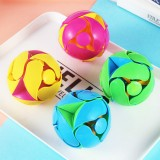 Creative Hand Throwing Color Changing Ball Transformation Telescopic Deformation Ball Magic Props Educational Children Toys (Random Color)