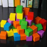 100 PCS / Set Colorful Elementary School Mathematics Teaching Aid Cube Cube Mold Stereo Recognition Graphics Tool, Size: 2cm