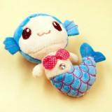 3 PCS Mermaid Plush Toy Wedding Creative Doll Grabbing Cloth Doll Small Pendant Doll, Size: 15cm (Blue)