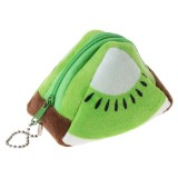 Triangle Plush Fruit Creative Three-dimensional Cute Children Change Bag Key Bag Gift (Kiwi)