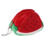 Triangle Plush Fruit Creative Three-dimensional Cute Children Change Bag Key Bag Gift (Watermelon)