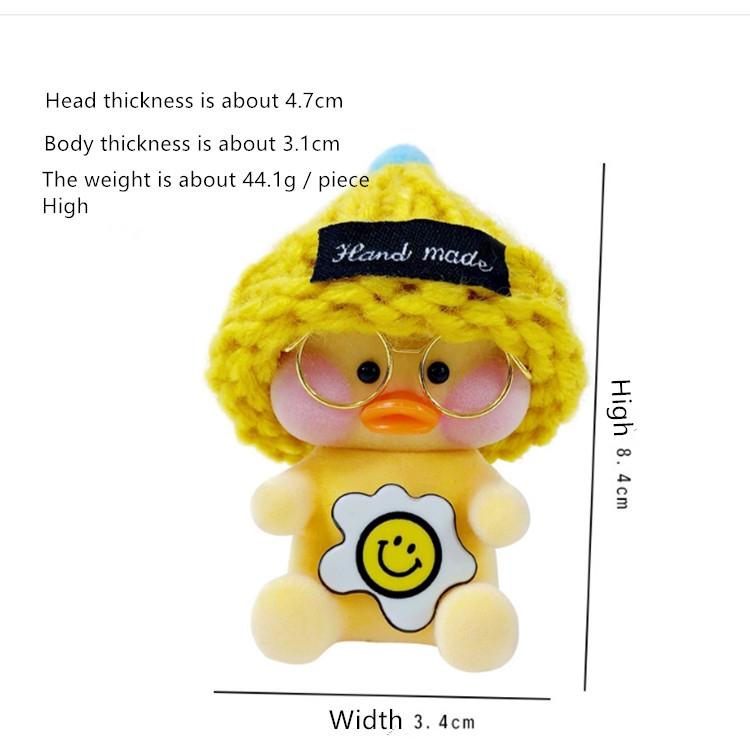 Creative Cartoon Hyaluronic Flocking Duck Doll Keychain Car Couple Key Chain Bag Pendant (G8-22)
