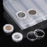 2 PCS Coin Capsules 100 x 30mm Round Boxes Commemorative Coin Protection Box