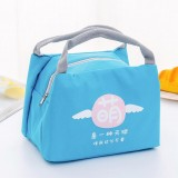 Portable Student Lunch Outdoor Portable Insulation Child Cute Student Lunch Box Bag (Tide Text-cute)