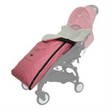 Baby Stroller Sleeping Bag Autumn and Winter Windproof Warm Foot Cover Baby Stroller (Linen Powder Sleeping Bag)