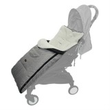 Baby Stroller Sleeping Bag Autumn and Winter Windproof Warm Foot Cover Baby Stroller (Linen Grey Sleeping Bag)