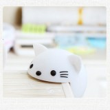 Baby Safe Anti Collision Corner Animal Shaped Cute Table Desk Corner Protector Cushion (White Cat)