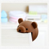 Baby Safe Anti Collision Corner Animal Shaped Cute Table Desk Corner Protector Cushion (Coffee Bear)