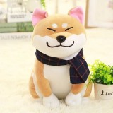 Couple Scarf Shiba Inu Dog Plush Toy, Color: Brown, Size: 45cm