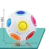 Magic Rainbow Ball Luminous Edition Training Hand Brain Coordination Fun Cube Children Toy (Luminous Blue)