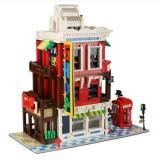 Large Building Model Small Particles Building Blocks Assembling Children Toys (Corner Shop)