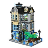 Large Building Model Small Particles Building Blocks Assembling Children Toys (Garden Cafe)