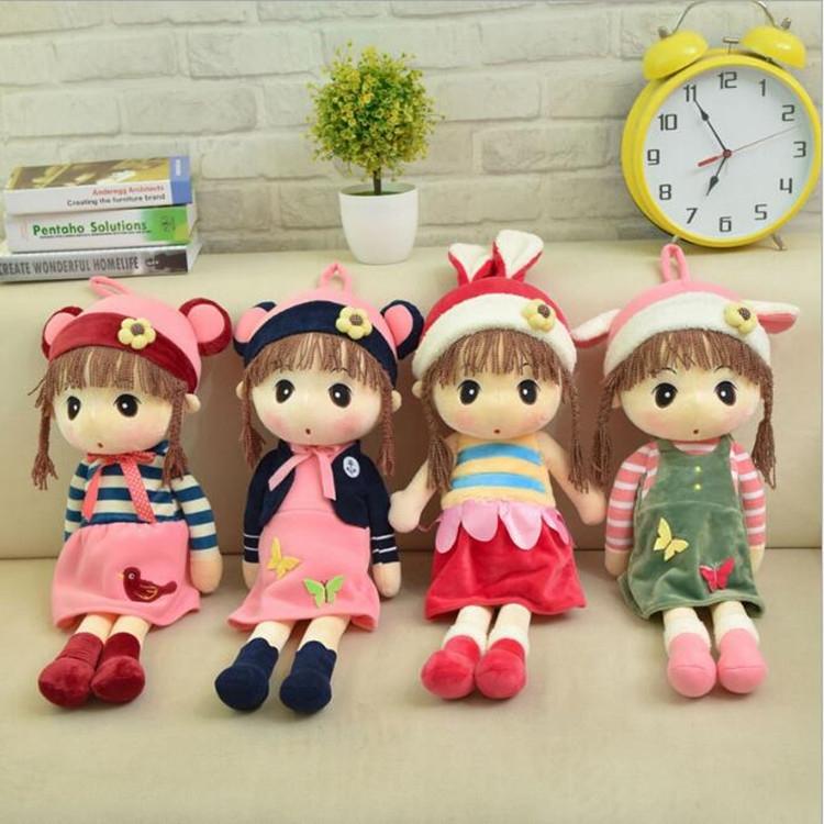 Simulation Doll People Cute Princess Doll Plush Toy Wedding Doll Little Girl Child Doll, Size: 45cm (1)