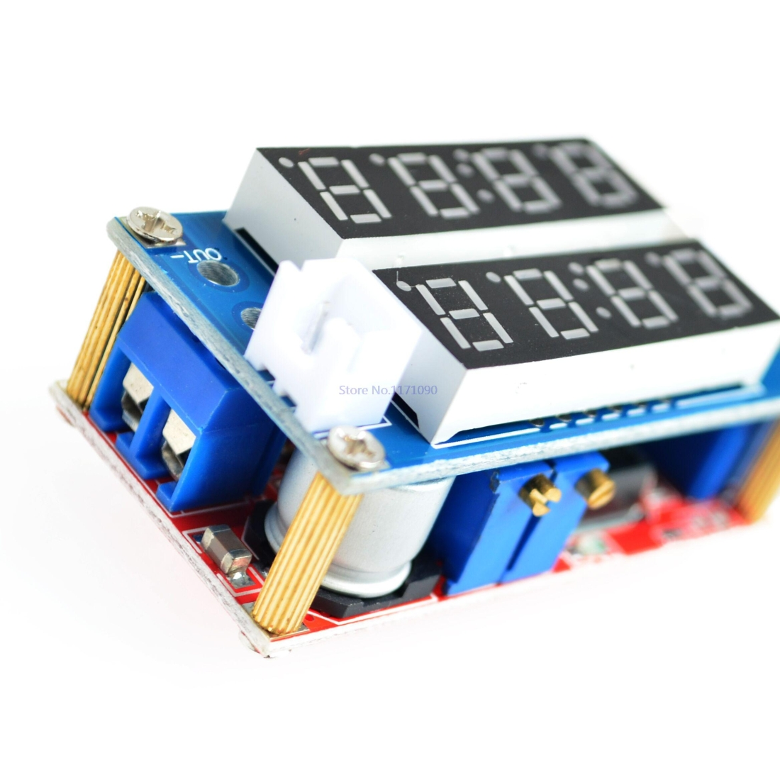 5A Constant Current Constant Voltage LED Drive Adjustable Power Supply Lithium Ion Battery Charging Current Voltage Meter