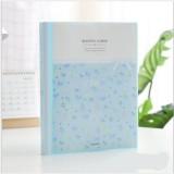 2 PCS Office Archive Folder Floral Information Booklet Sorting Bag Transparent Menu Insert Storage Box, Color: 30 Pages Blue