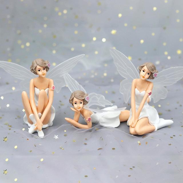 3 PCS Creative Scene Flower Fairy Doll Home Decoration Baking Decoration (Sitting)