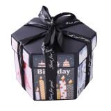 Surprise Hexagon Blooming DIY Handmade Album Creative Photo Box (Birthday Themed Box)