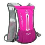 JUNLETU Running Water Bag Backpack Ultra Light Breathable Waterproof Marathon Backpack Outdoor Sports Riding Bag (Rose Red)
