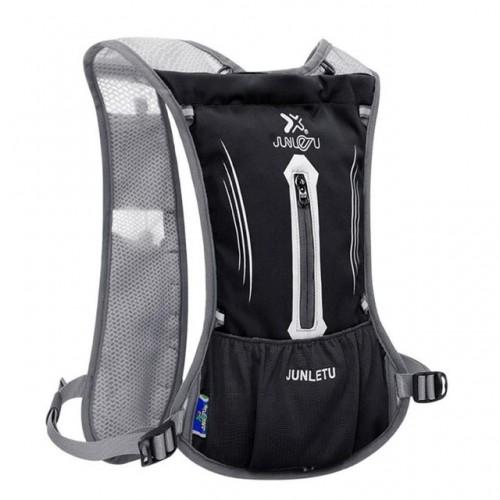JUNLETU Running Water Bag Backpack Ultra Light Breathable Waterproof Marathon Backpack Outdoor Sports Riding Bag (Black)