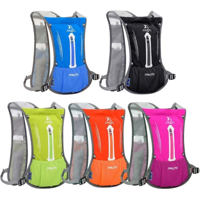 JUNLETU Running Water Bag Backpack Ultra Light Breathable Waterproof Marathon Backpack Outdoor Sports Riding Bag (Green)