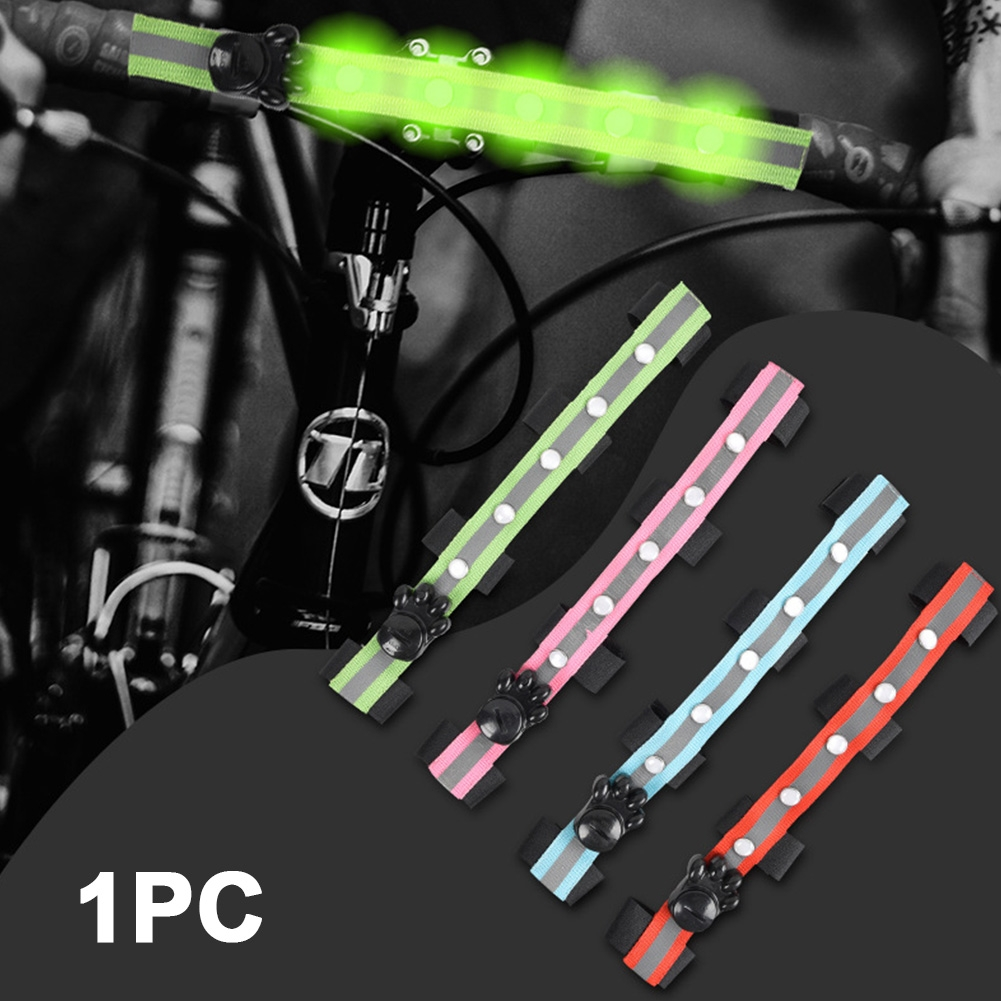 Outdoor Sports Riding Multifunctional LED Light Emitting DIY Strap (Blue)