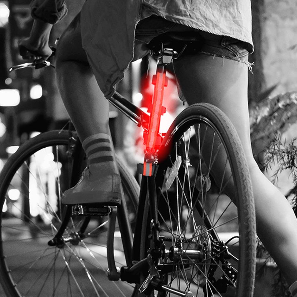 Outdoor Sports Riding Multifunctional LED Light Emitting DIY Strap (Pink)