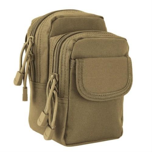 Small Pocket Gadget Belt Waist Bag Phone Bag Holster (Brown)