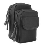 Small Pocket Gadget Belt Waist Bag Phone Bag Holster (Black)