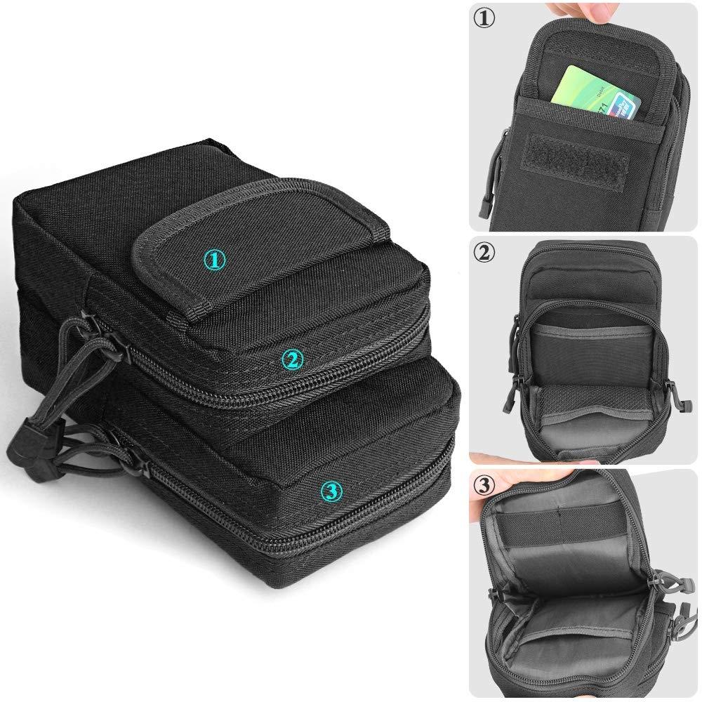 Small Pocket Gadget Belt Waist Bag Phone Bag Holster (Army Green)