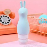 Cute Silicone Inflatable Portable Animal Shape Travel Packaged Lotion Shampoo Moisture Bottle (Blue)