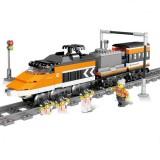 City Electric Rail Train Harmony Assembled High-speed Rail Building Blocks (Skyrim High Speed Train)