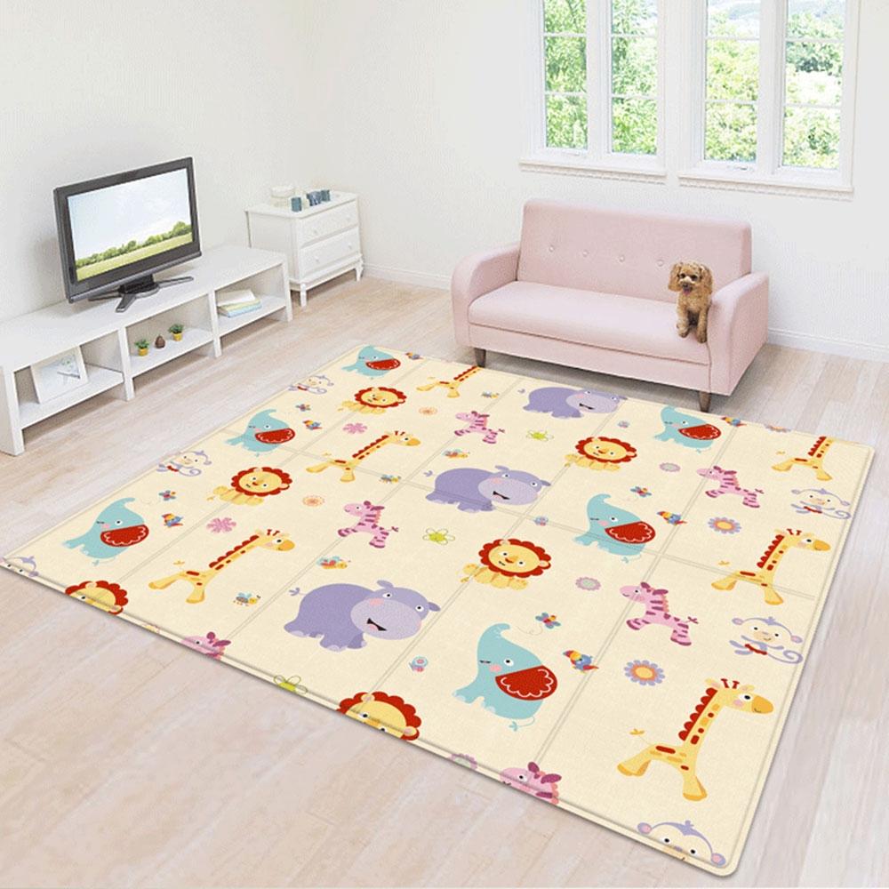 Baby Children Cartoon Thick Folding Comfortable Crawling Mat Game Pad (Lion King + Green World)