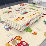 Baby Children Cartoon Thick Folding Comfortable Crawling Mat Game Pad (Animal + Transportation)