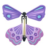 Magic Science Novelty Flying Butterfly Toy Magic Props (Violet)