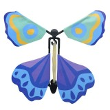 Magic Science Novelty Flying Butterfly Toy Magic Props (Blue + Violet)