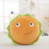 Simulation Milk Tea Hamburger Pillow Plush Doll Funny Birthday Gift, Size: 50cm (Hamburger)