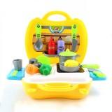 Children Simulation Kitchen Tableware Tool Set Cosmetics Pretend Play House Suitcase Toy, Style: Kitchen
