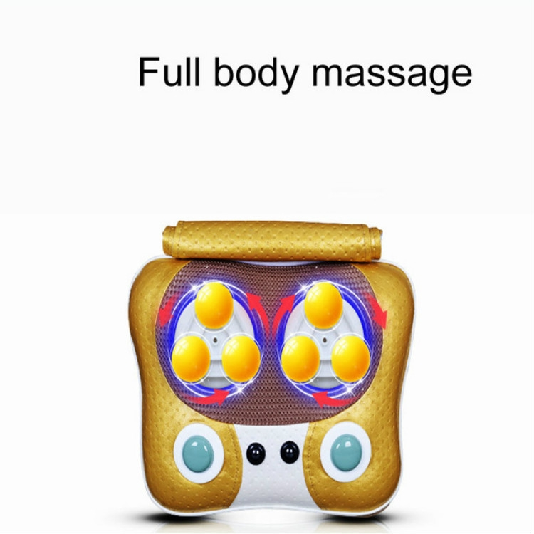 MFL-A4 Magnetic Heating Kneading Cervical Massager Multi-function Household Massage Pillow Body Massage Cushion (Gold)