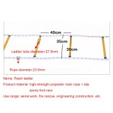 10m Resin Anti-skid Firefighting Rope Ladder Aerial Work Soft Ladder Rescue Ladder