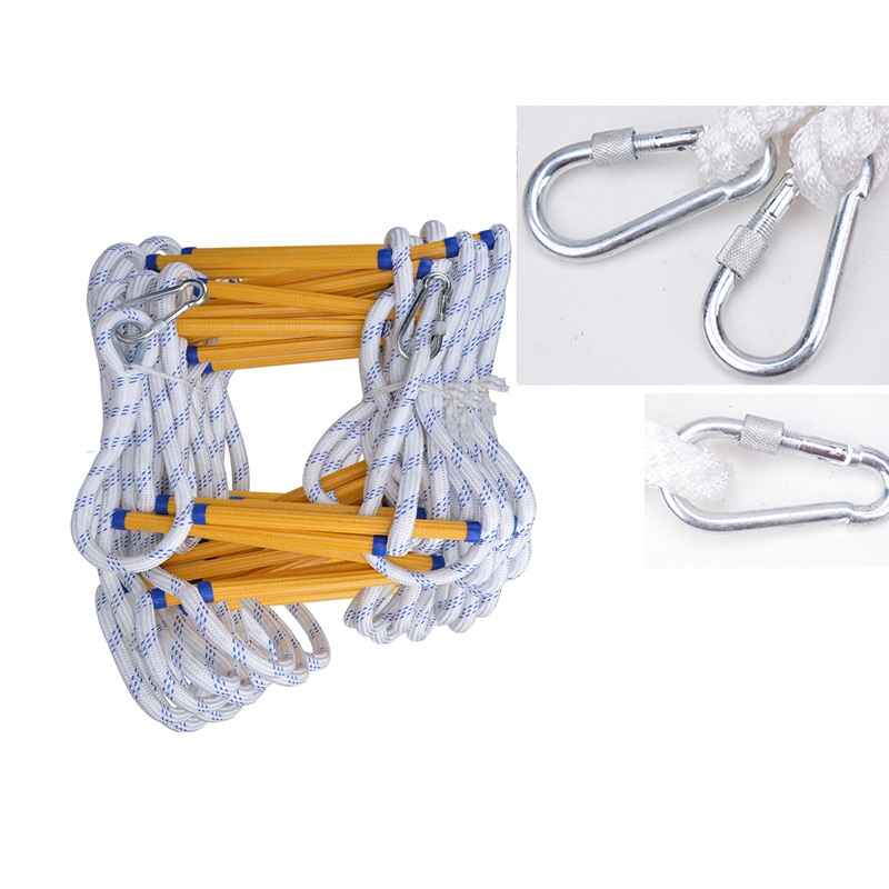 15m Resin Anti-skid Firefighting Rope Ladder Aerial Work Soft Ladder Rescue Ladder