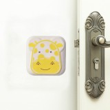 10 PCS Mute Crash Pad Cartoon Thickened Wall Door Shock Pad (Apricot Giraffe)