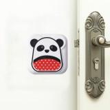 10 PCS Mute Crash Pad Cartoon Thickened Wall Door Shock Pad (White Panda)