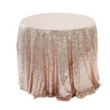 2 PCS Round Table Decoration Cloth Hotel Wedding Banquet Decoration Embroidered Sequin Tablecloth, Size: 60cm (Rose gold)