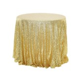 2 PCS Round Table Decoration Cloth Hotel Wedding Banquet Decoration Embroidered Sequin Tablecloth, Size: 60cm (Golden)