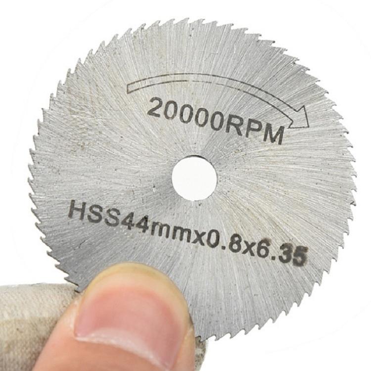 7 PCS/Set Electric Grinder Saw Blade High Speed Steel Saw Blade Woodworking Saw Blade High Speed Steel Cutting Piece, Model: 11026